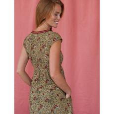Mata Traders Jaya Dress Turmeric Block Print