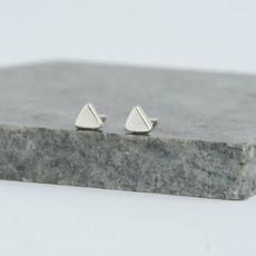 Fair Anita Tiny Triangle Sterling Silver Stud