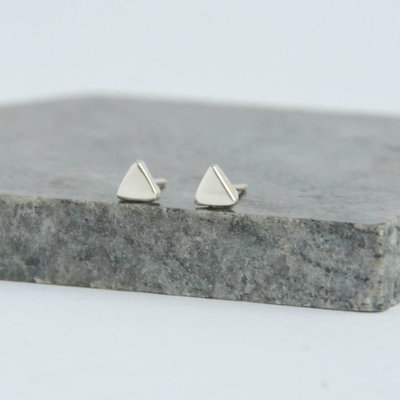 Fair Anita Tiny Triangle Sterling Silver Stud