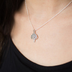Matr Boomie Tree of Life Sterling Silver Charm Necklace