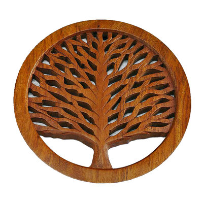 Serrv Tree of Life Wooden Trivet