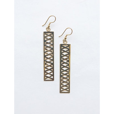 Fair Anita Trellis Brass Earrings