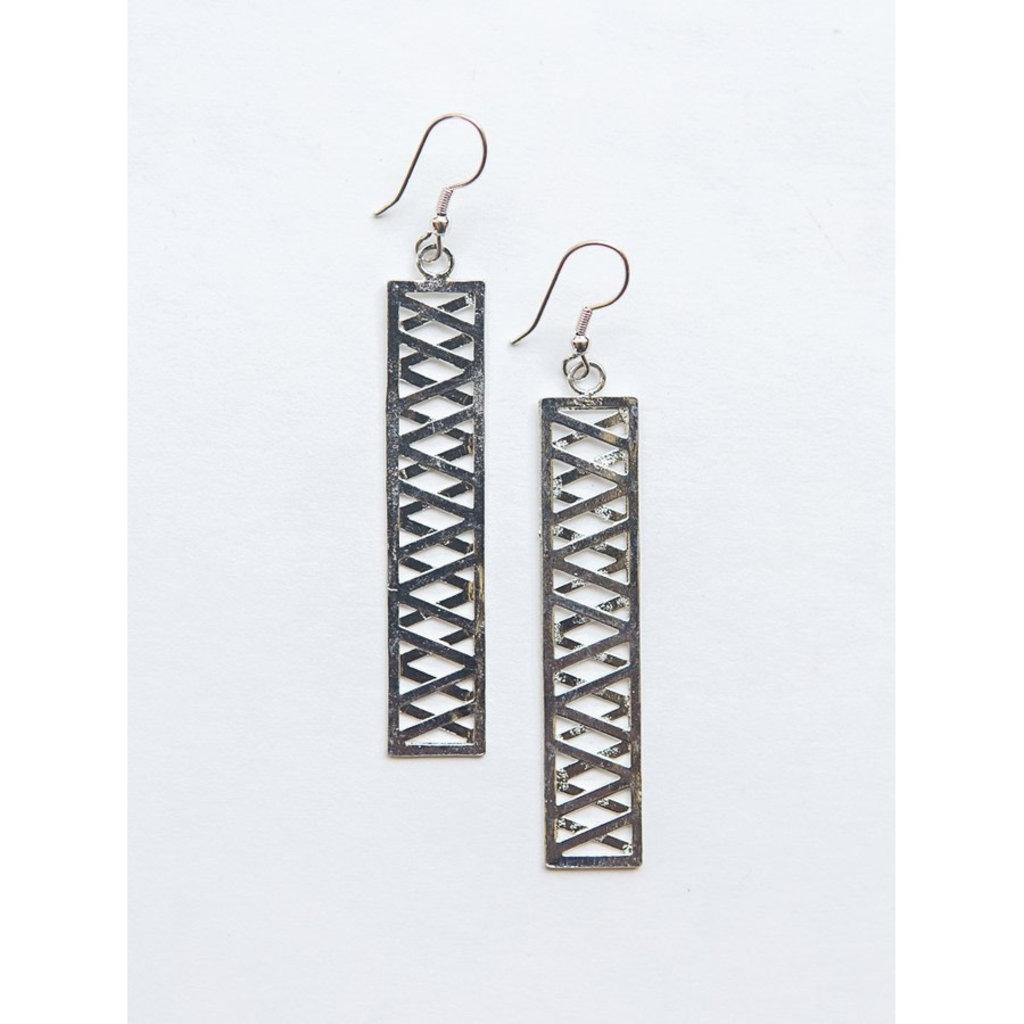 Fair Anita Trellis Silver-Plated Earrings