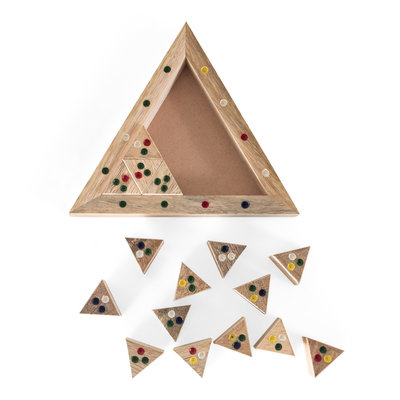 Ten Thousand Villages Triangle Puzzle Game