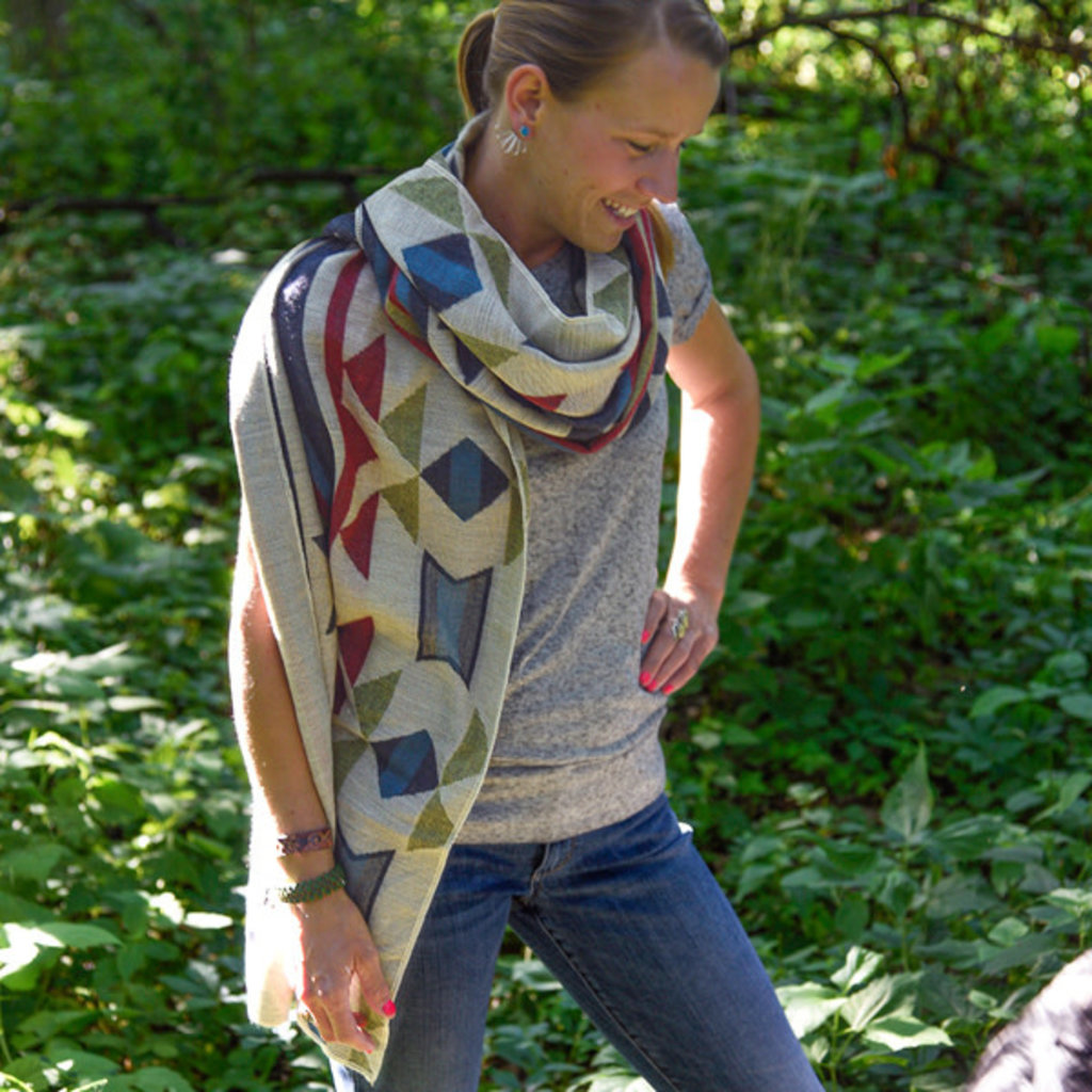 Minga Imports Tribal Blanket Shawl
