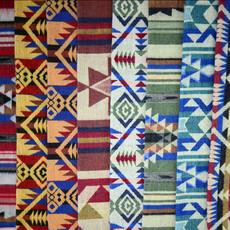 Minga Imports Tribal Blanket Shawl Multicolor Assorted