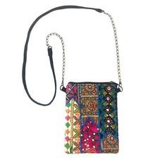 World Finds Tribal Mosaic Crossbody Bag