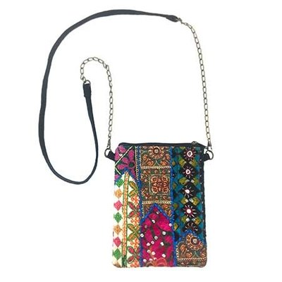World Finds Tribal Mosaic Crossbody Bag