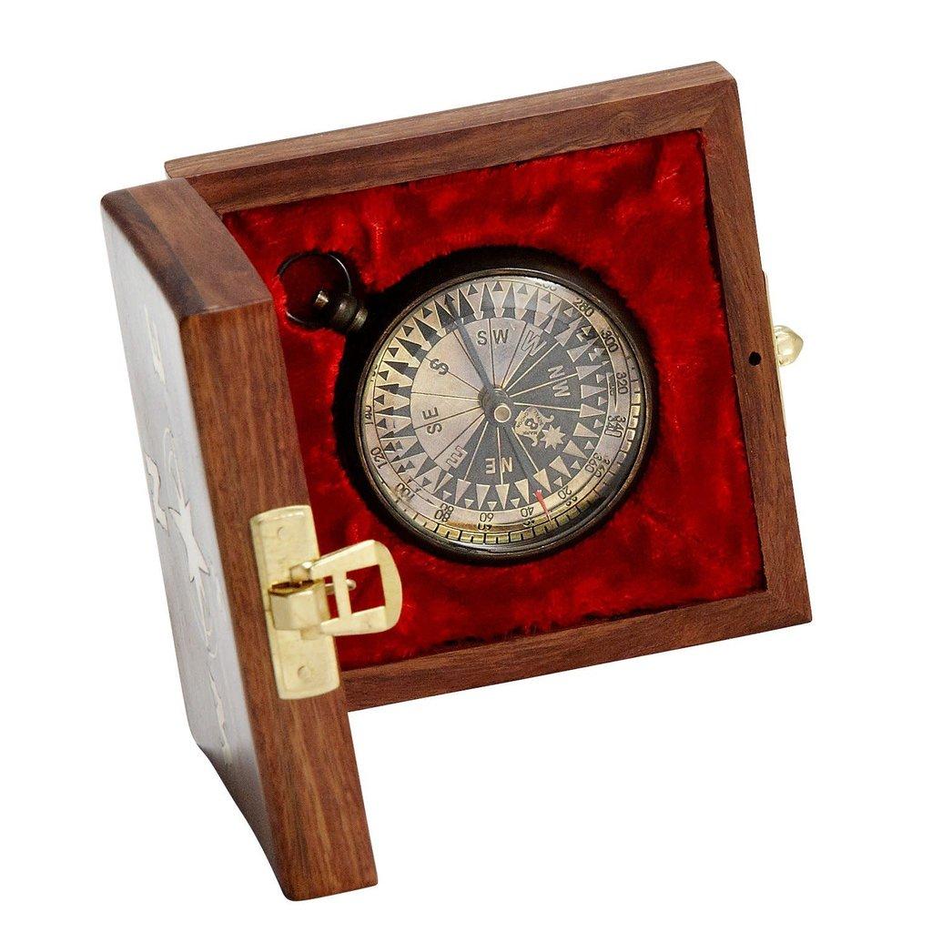 Ten Thousand Villages True North Compass in Box