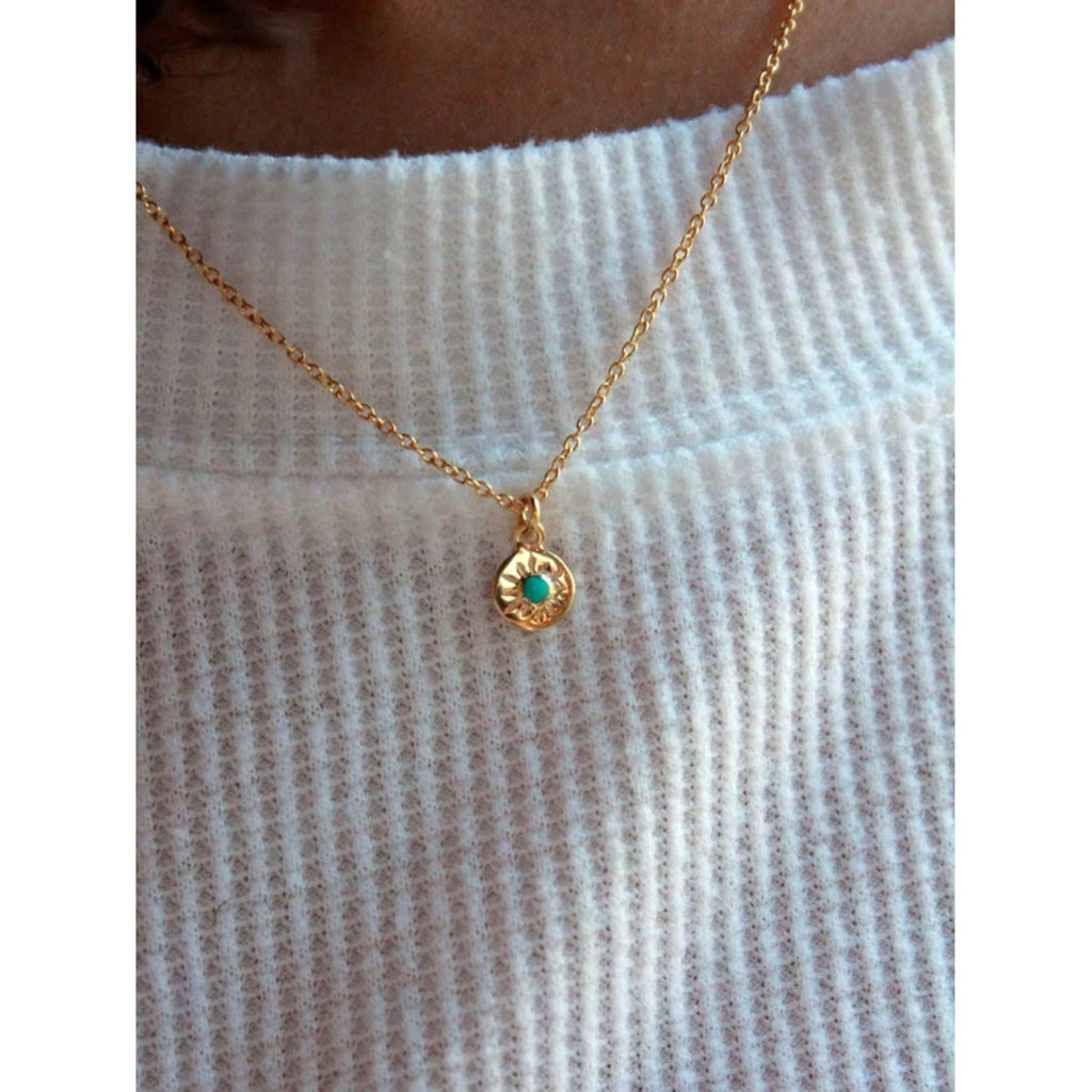Fair Anita Turquoise Starburst 14K Gold-Plated Sterling Necklace