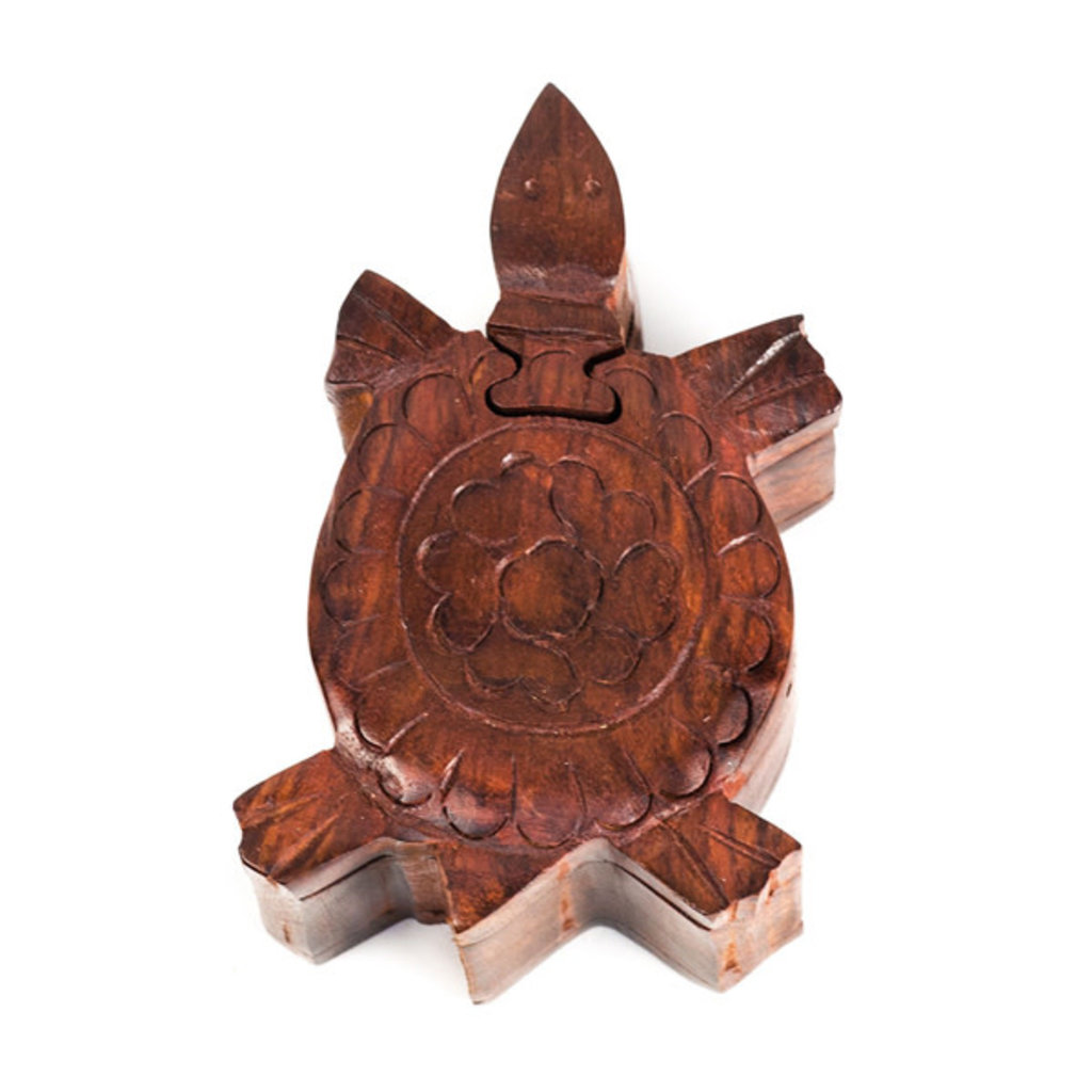 Matr Boomie Turtle Wooden Puzzle Box