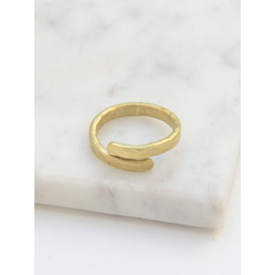 Fair Anita Twisted Vine Brass Ring
