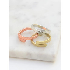 Fair Anita Twisted Vine Brass Ring