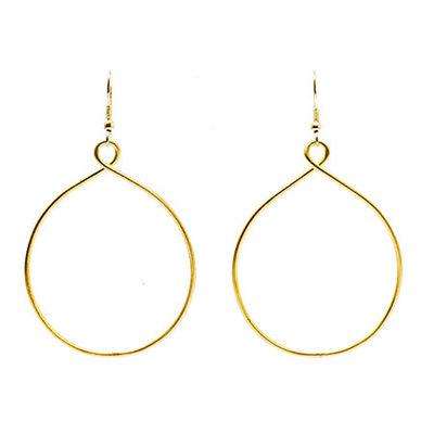 World Finds Twisting Hoops Earrings Silver