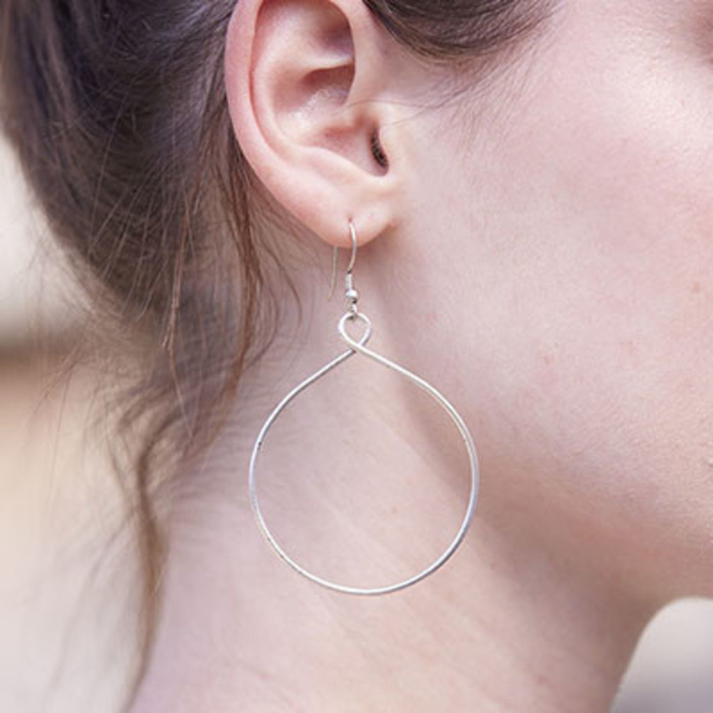 World Finds Twisting Hoops Earrings
