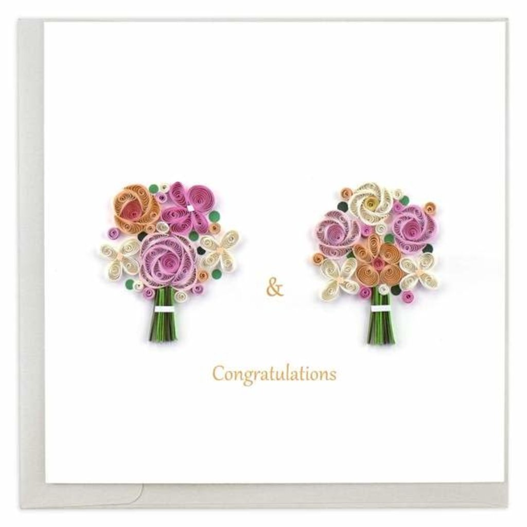Quilling Card Two Brides Quilled Card