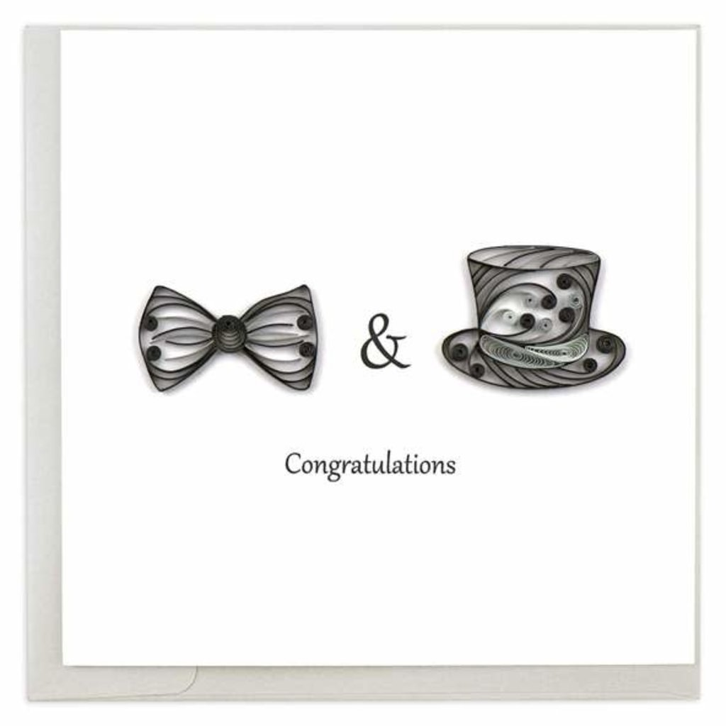 Quilling Card Two Grooms Quilled Card