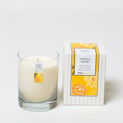 Bright Endeavors Vanilla Honey Candle 11 oz Glass