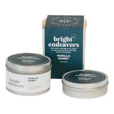 Bright Endeavors Vanilla Honey Candle 4 Ounce Tin