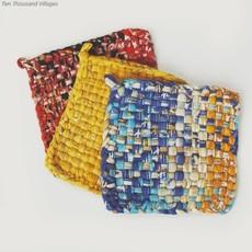 Ten Thousand Villages Village Cotton Sari Hot Mats