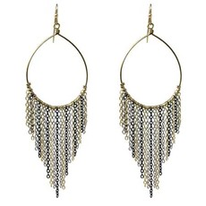 World Finds Vya Cascading Chain Earrings