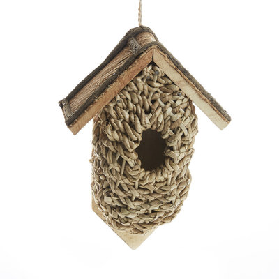 Serrv Wall-mounted Rustic Basket Birdhouse