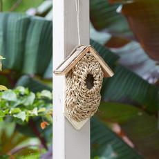 Serrv Wall-mounted Rustic Basket Birdhouse