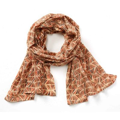 Serrv Warm Kalamkari Cotton Scarf