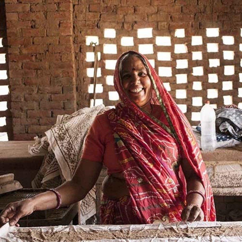 Serrv Warm Kalamkari Cotton Scarf