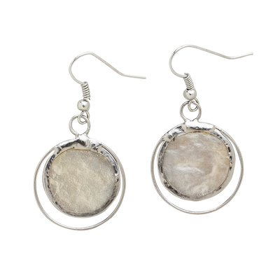 Ten Thousand Villages Whispered Secrets Capiz Earrings