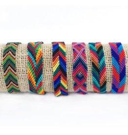 Lucia's Imports Wide Silk Multi-Color Friendship Bracelet