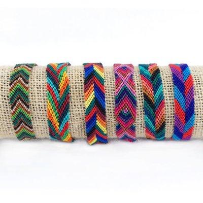 Lucia's Imports Wide Silk Friendship Bracelet