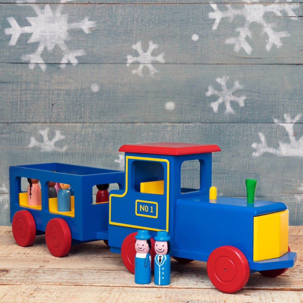 Mr. Ellie Pooh Wooden Toy Train with Passengers