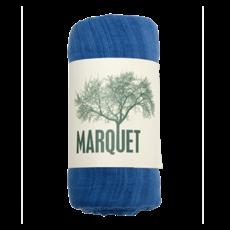 Marquet Fair Trade Worn Indigo Binh Minh Silk and Cotton Shawl