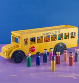 Mr Ellie Pooh Yellow School Bus Wooden Toy