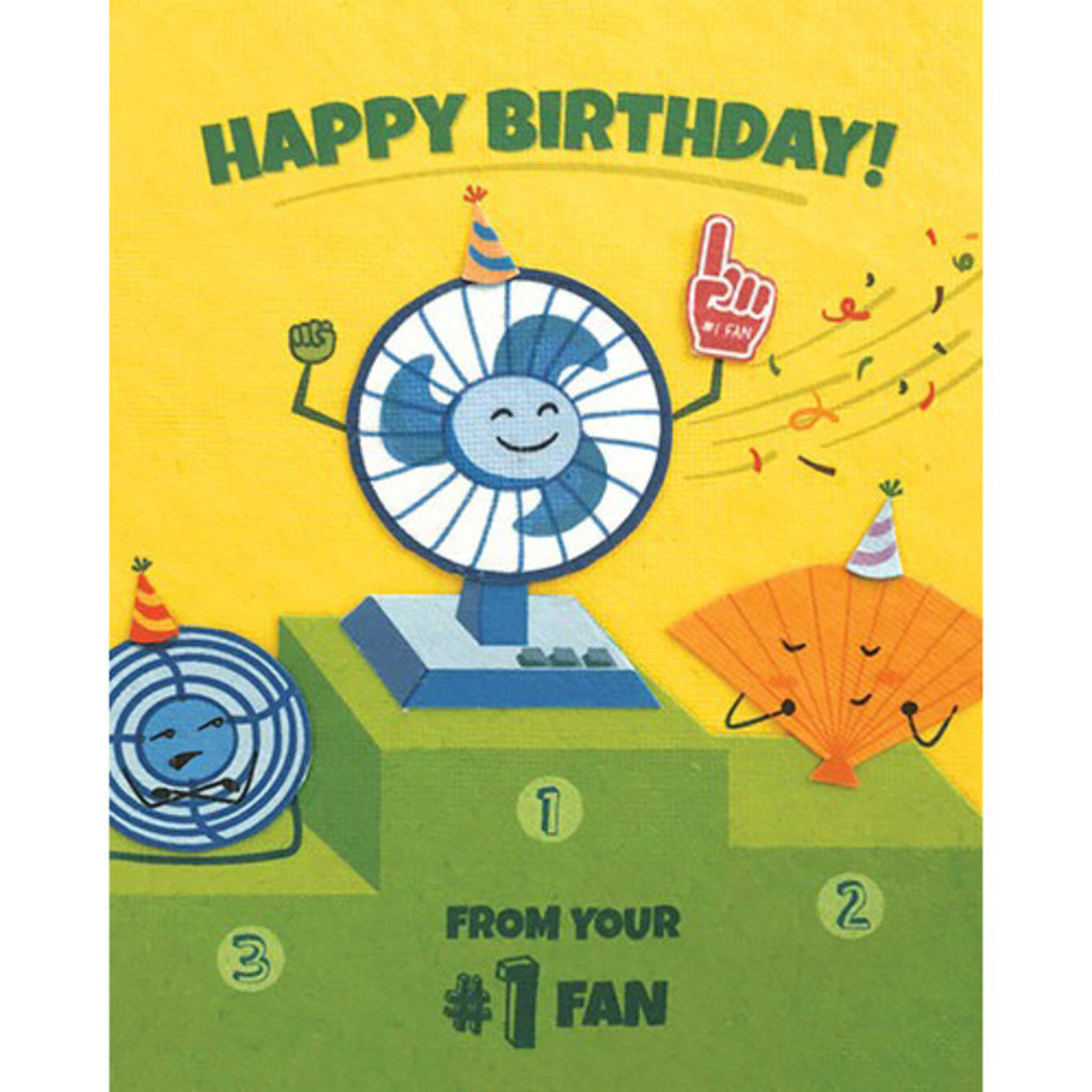 Good Paper Number One Fan Birthday Card