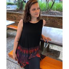 Unique Batik Thai Dye Sleeveless Top