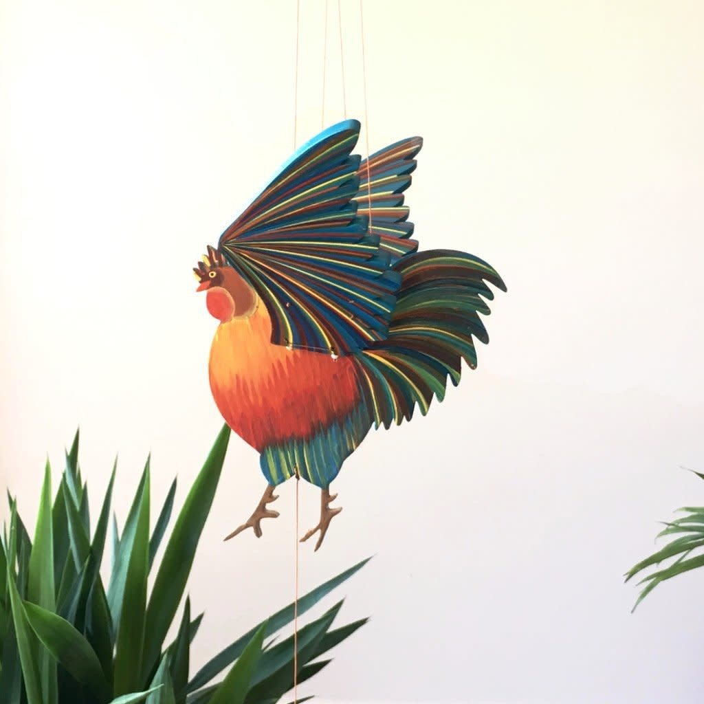 Tulia's Artisan Gallery Flying Rooster Mobile