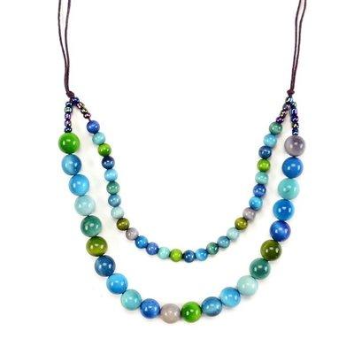 Minga Imports Esfera Tagua Necklace
