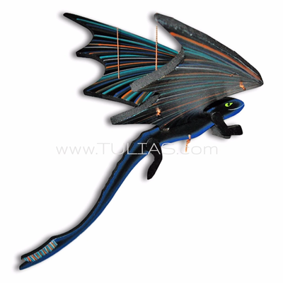 Tulia's Artisan Gallery Flying Black Dragon Mobile