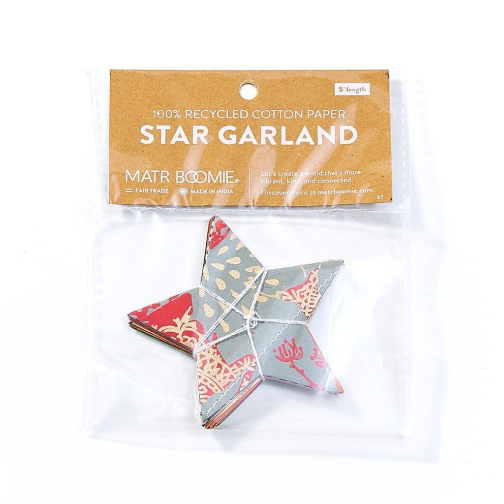 Matr Boomie Metallic Cotton Stars Garland