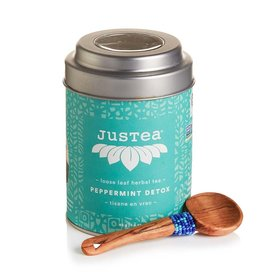 Just Tea Peppermint Detox Loose Leaf Tea Tin