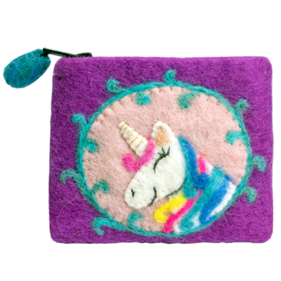 DZI Handmade Unicorn Coin Purse