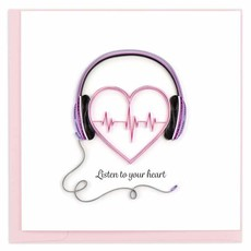 Quilling Card Listen To Your Heart Quilled Card