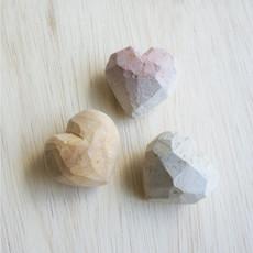 Venture Imports Heart in Progress Handmade Kisii Stone