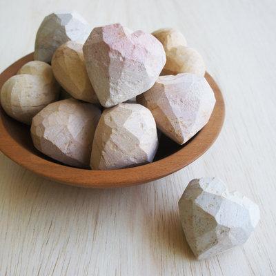 Venture Imports Work in Progress Soapstone Heart Rock