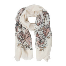 Ten Thousand Villages Minimalist Bouquet Cotton Scarf
