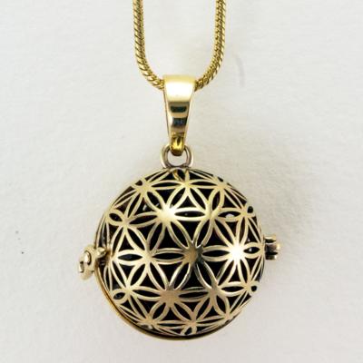 DZI Handmade Flower of Life Diffuser Necklace