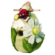 DZI Handmade Ladybug Wool Felt Birdhouse