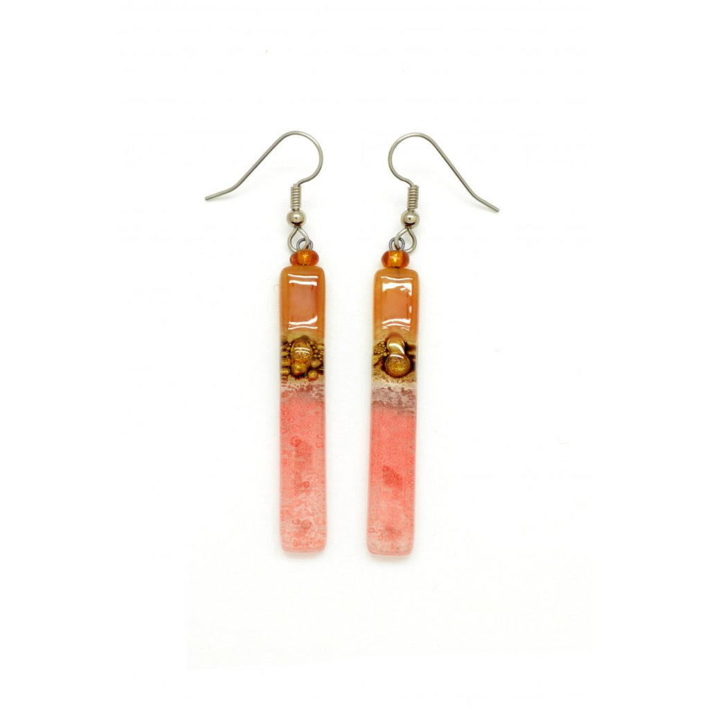 Dunitz & Co Long Stick Glass Earrings